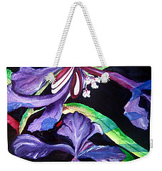 Purple Wildflowers Weekender Tote Bag