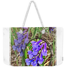 Purple Wildflowers Weekender Tote Bag
