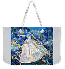 Weekender Tote Bag featuring the painting Pursuit Of Happiness by Anna  Duyunova