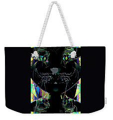Pussy Cat Weekender Tote Bag by Natalie Holland