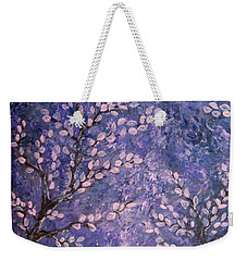 Weekender Tote Bag featuring the painting Pussy Willow Blues by Megan Walsh