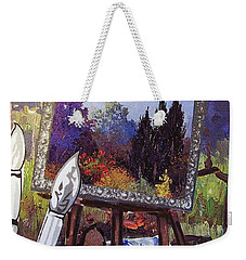 Weekender Tote Bag featuring the painting Put Color In Your Life by Eloise Schneider