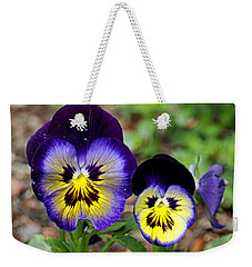 Weekender Tote Bag featuring the photograph Put On A Happy Face by AJ  Schibig
