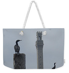Weekender Tote Bag featuring the photograph Pyrates On The Dock by Robert Nickologianis