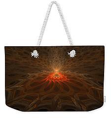 Weekender Tote Bag featuring the digital art Pyre by GJ Blackman
