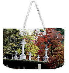 Weekender Tote Bag featuring the photograph Quad Crosses In Fall by Lesa Fine