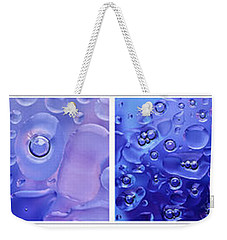 Weekender Tote Bag featuring the photograph Quadryptich Of Colorful Water Bubbles by Peter v Quenter