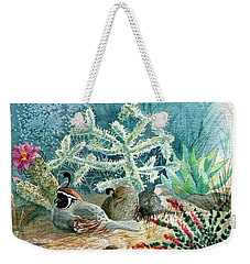Quail At Rest Weekender Tote Bag by Marilyn Smith