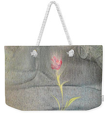 Weekender Tote Bag featuring the painting Quake by Mike Breau