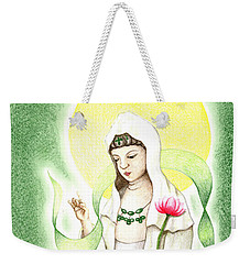 Quan Yin Weekender Tote Bag by Keiko Katsuta