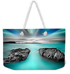 Quantum Divide Weekender Tote Bag by Az Jackson