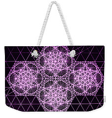 Weekender Tote Bag featuring the drawing Quantum Snowfall by Jason Padgett