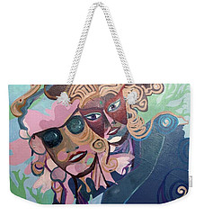 Weekender Tote Bag featuring the painting Quantum Theory by Avonelle Kelsey