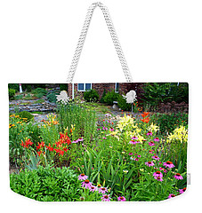 Weekender Tote Bag featuring the photograph Quarter Circle Garden by Kathryn Meyer