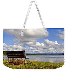 Weekender Tote Bag featuring the photograph Quartz Lake by Cathy Mahnke