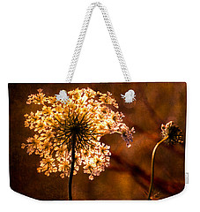 Queen Annes Lace Vintage Weekender Tote Bag