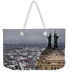 Queen City Winter Wonderland After The Storm Series 0013 Weekender Tote Bag