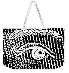Weekender Tote Bag featuring the digital art Queen Elizabeth's Eyes by Vagabond Folk Art - Virginia Vivier