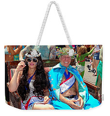 Weekender Tote Bag featuring the photograph Queen Mermaid-king Neptune by Ed Weidman