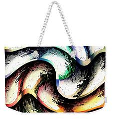 Weekender Tote Bag featuring the digital art Queenly by Ann Calvo
