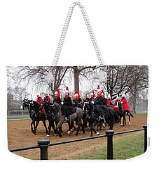 Weekender Tote Bag featuring the photograph Queen's Guard by Tiffany Erdman