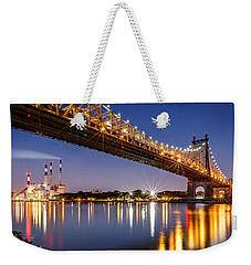 Queensboro Bridge Weekender Tote Bag by Mihai Andritoiu