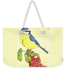 Weekender Tote Bag featuring the painting Quietly Watching by Tracey Williams
