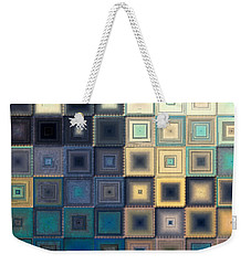 Quilted Blocks Weekender Tote Bag
