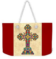 Quilted Cross Weekender Tote Bag