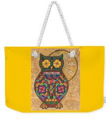 Quilted Owl Weekender Tote Bag