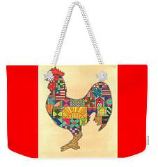 Quilted Rooster Weekender Tote Bag