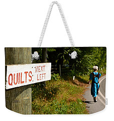 Quilts Next Left Weekender Tote Bag
