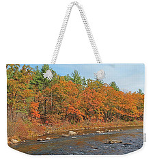 Quinapoxet River In Autumn Weekender Tote Bag