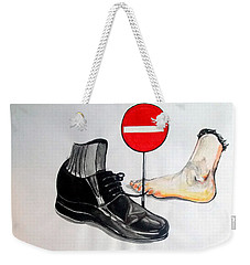 Weekender Tote Bag featuring the painting Quo Vadis by Lazaro Hurtado