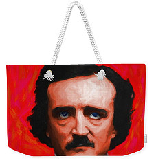 Quoth The Raven Nevermore - Edgar Allan Poe - Painterly - Red - Standard Size Weekender Tote Bag