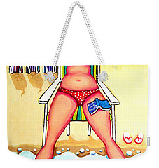 R And D - Woman On Beach Weekender Tote Bag