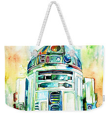 R2-d2 Watercolor Portrait Weekender Tote Bag