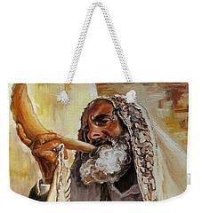 Rabbi Blowing Shofar Weekender Tote Bag