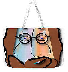 Weekender Tote Bag featuring the digital art Rabbi David by Marvin Blaine