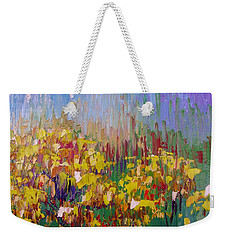 Rabbit Brush Abstracted Weekender Tote Bag by Margaret Bobb