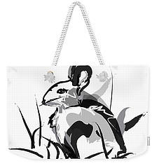 Rabbit Bunny Black White Grey Weekender Tote Bag