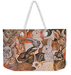 Rabbit Spread Weekender Tote Bag by Ditz
