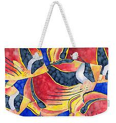 Raccoon Butterflyfish Weekender Tote Bag