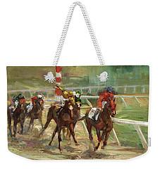 Race Horses Weekender Tote Bag