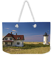 Race Point Lighthouse In Summer Weekender Tote Bag by Amazing Jules