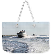 Racing To The Docks Weekender Tote Bag