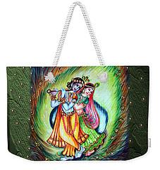 Radha Krishna Weekender Tote Bag by Harsh Malik