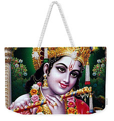 Radha Krishna Idol Hinduism Religion Religious Spiritual Yoga Meditation Deco Navinjoshi  Rights Man Weekender Tote Bag