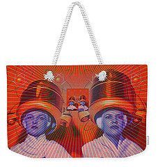 Weekender Tote Bag featuring the digital art Radiant by Sasha Keen