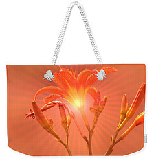 Radiant Square Day Lily Weekender Tote Bag